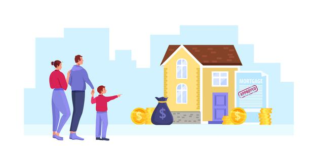 casa con crédito hipotecario